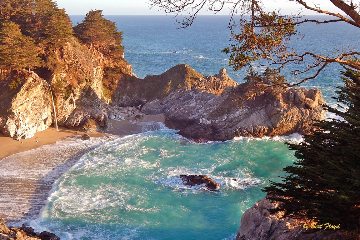Action: McWay Falls, California