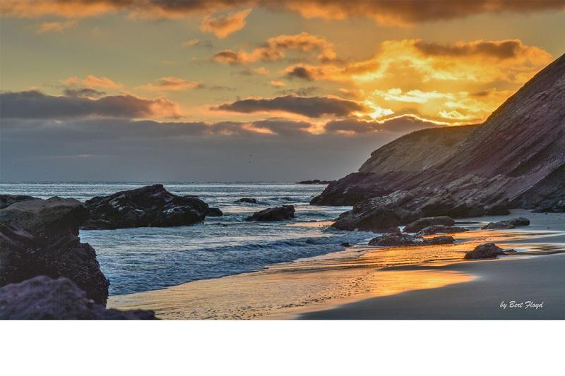 Reflection:  Coastal Sunset, Gaviota, California