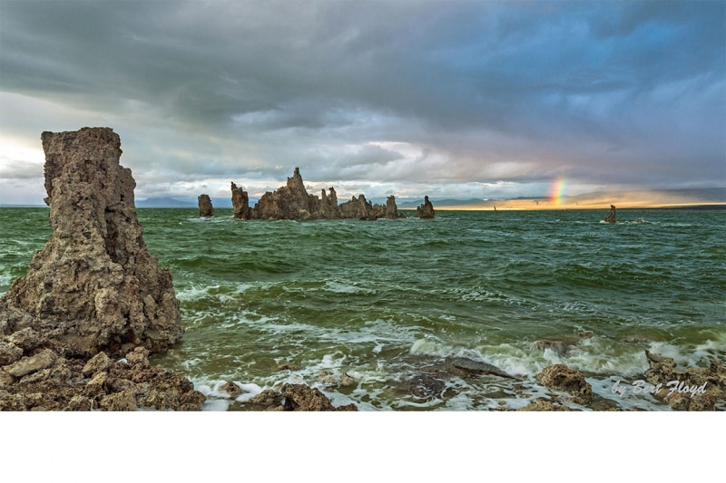 Rainbow after the Storm:  Mono Lake, California
